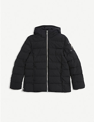 MOOSE KNUCKLES: Quilted-down cotton and nylon-blend puffer coat 7-16 years