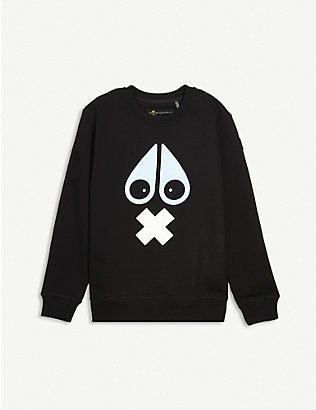 MOOSE KNUCKLES: X-Mark cotton jumper 7-16 years