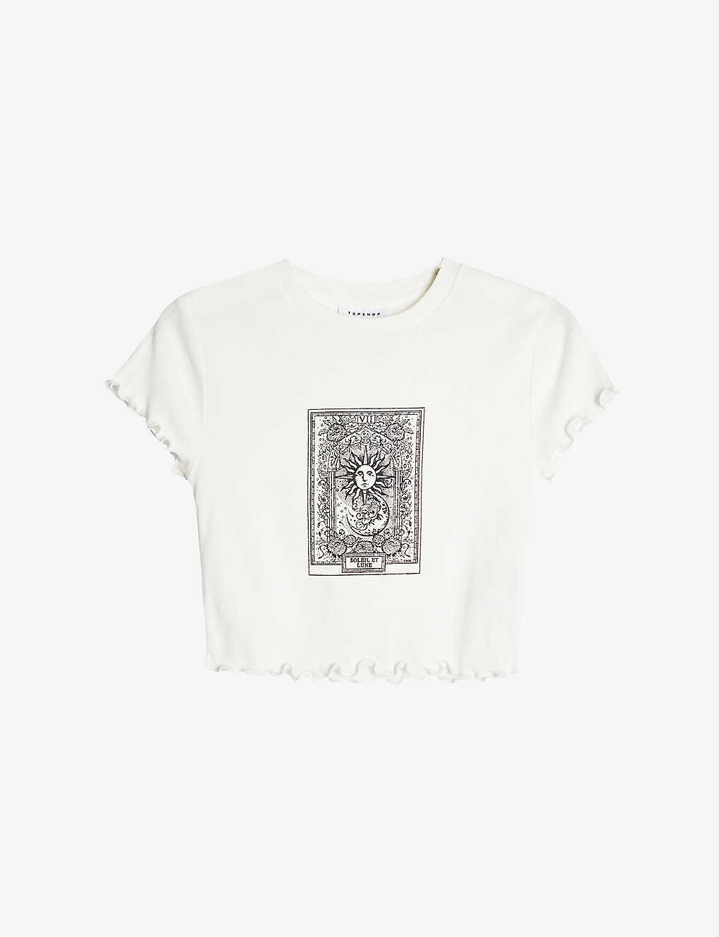 TOPSHOP: Mystical Moon cotton cropped T-shirt