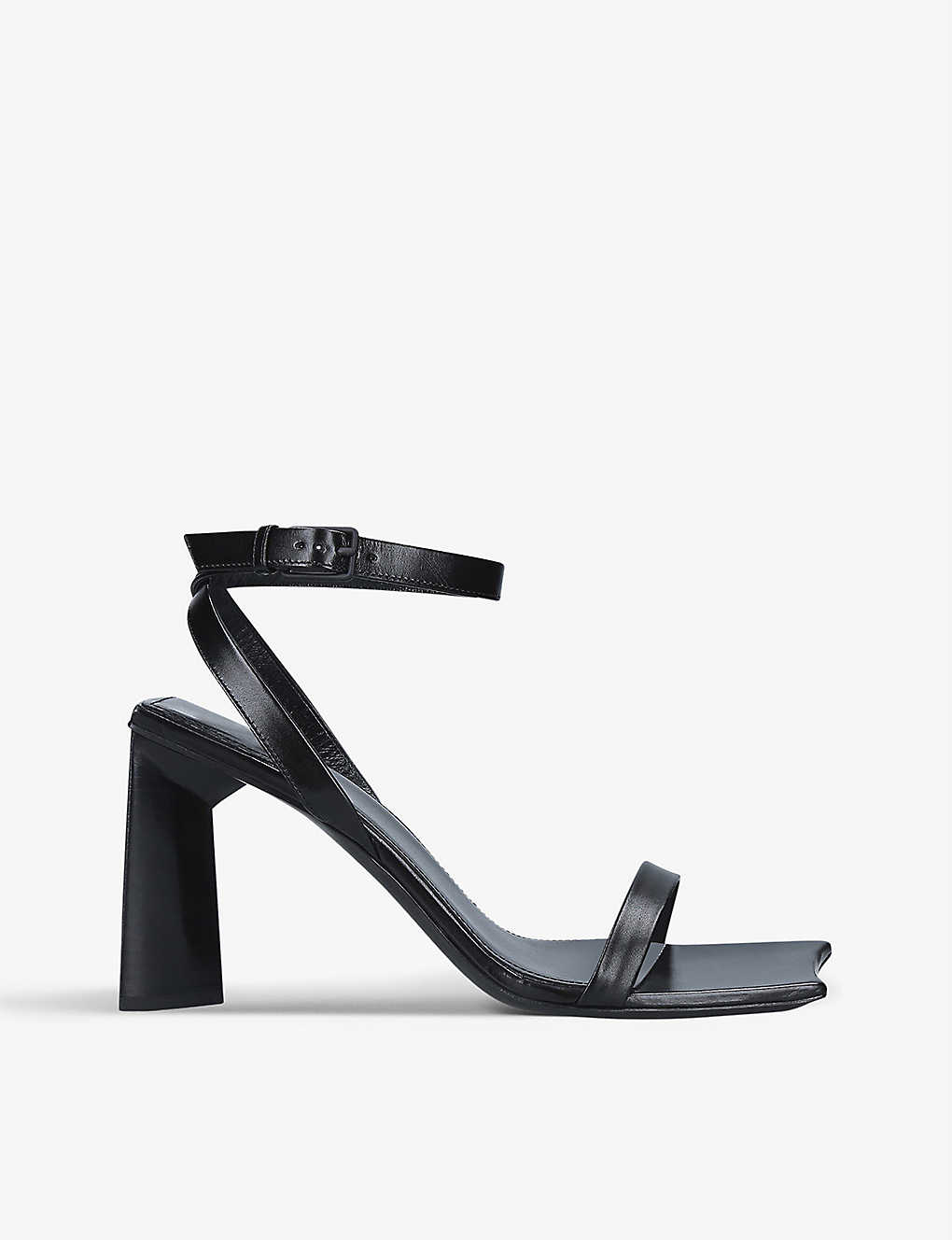 Balenciaga Moon 90 leather block heel sandals