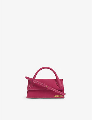 JACQUEMUS: Le Chiquito Long suede top handle bag