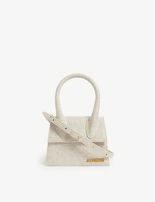 JACQUEMUS: Le Chiquito medium linen top handle bag
