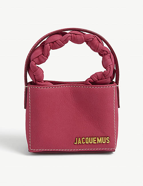 JACQUEMUS: Le Petit Sac Noeud leather top-handle bag