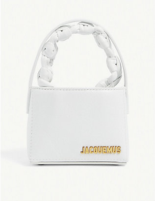 JACQUEMUS: Le Petit Sac Noeud leather handbag