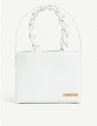 JACQUEMUS: Le Sac Noeud leather handbag