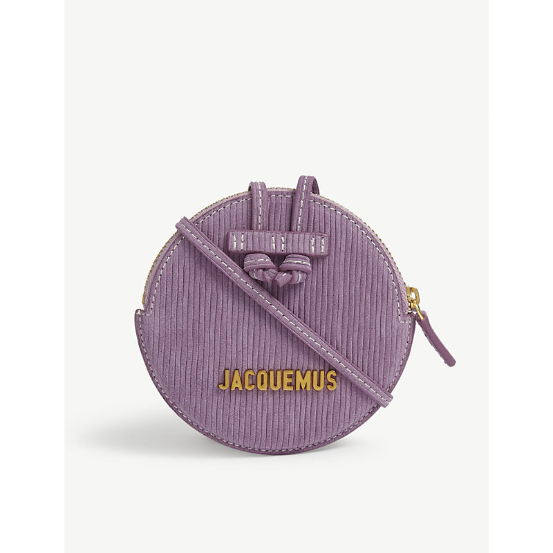 JACQUEMUS LE PITCHOU LEATHER WALLET-ON-CHAIN