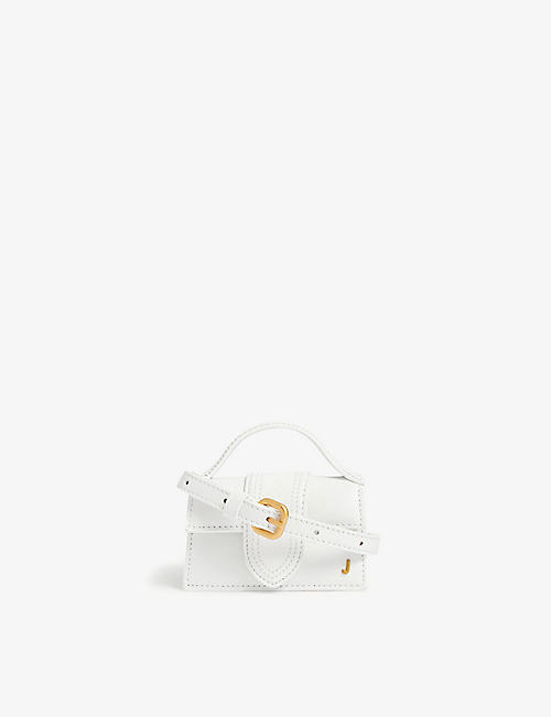 JACQUEMUS: Le Petit Bambino mini leather top handle bag