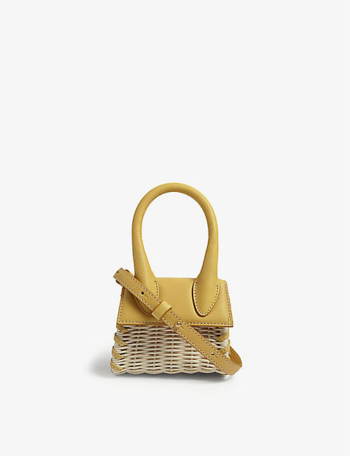 JACQUEMUS: Le Chiquito wicker top-handle bag