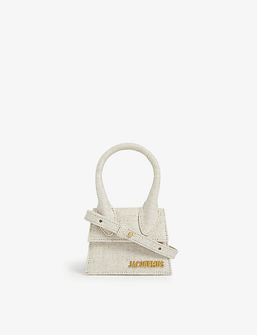 JACQUEMUS: Le Chiquito linen top handle bag