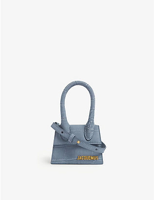JACQUEMUS: Le Chiquito suede top handle bag