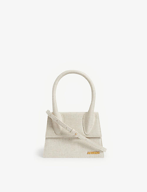 JACQUEMUS: Le Grand Chiquito linen top handle bag