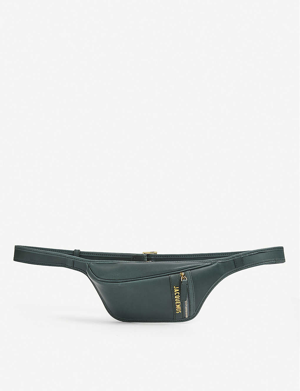 JACQUEMUS: La Banane leather belt bag