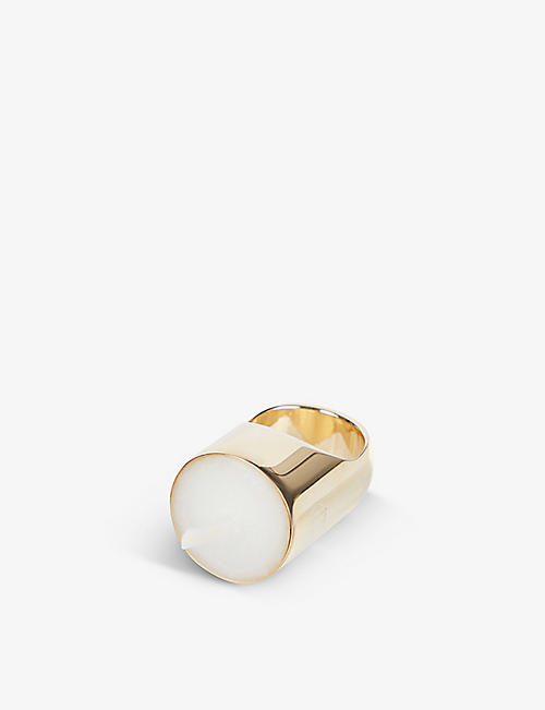 D'HEYGERE: Candle and wick sterling silver ring