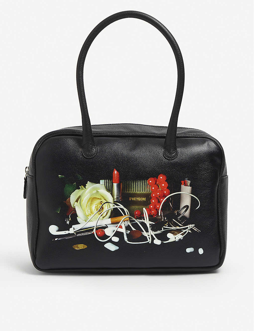 D'HEYGERE: Still Life leather top handle bag