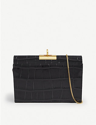 GU DE: Luxy croc-embossed leather shoulder bag