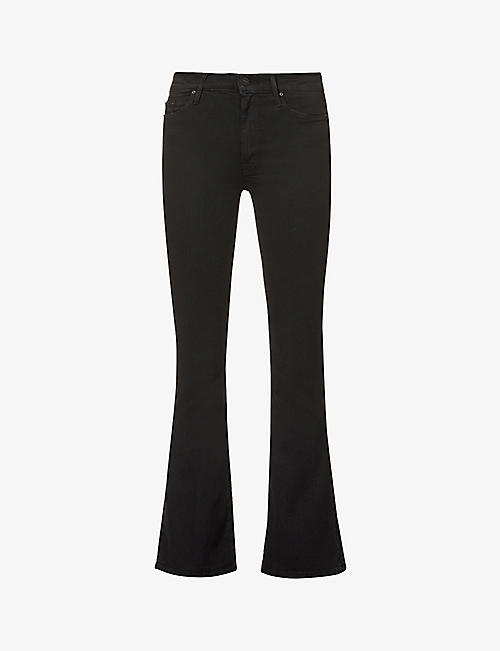 MOTHER: The Weekender flared mid-rise stretch-denim jeans