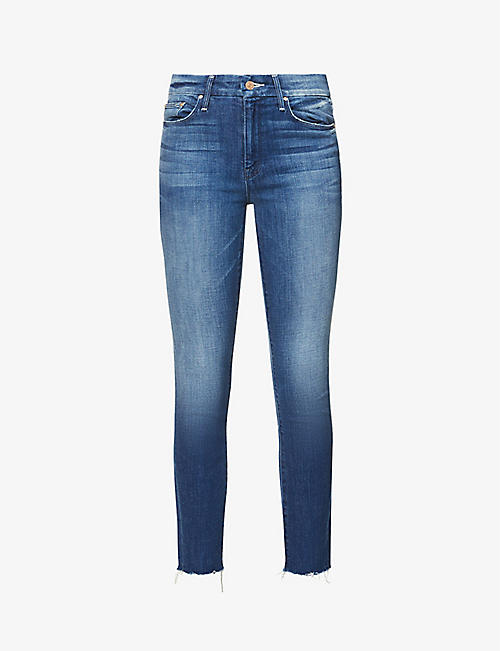 MOTHER: The Looker Ankle Fray slim-fit tapered mid-rise jeans