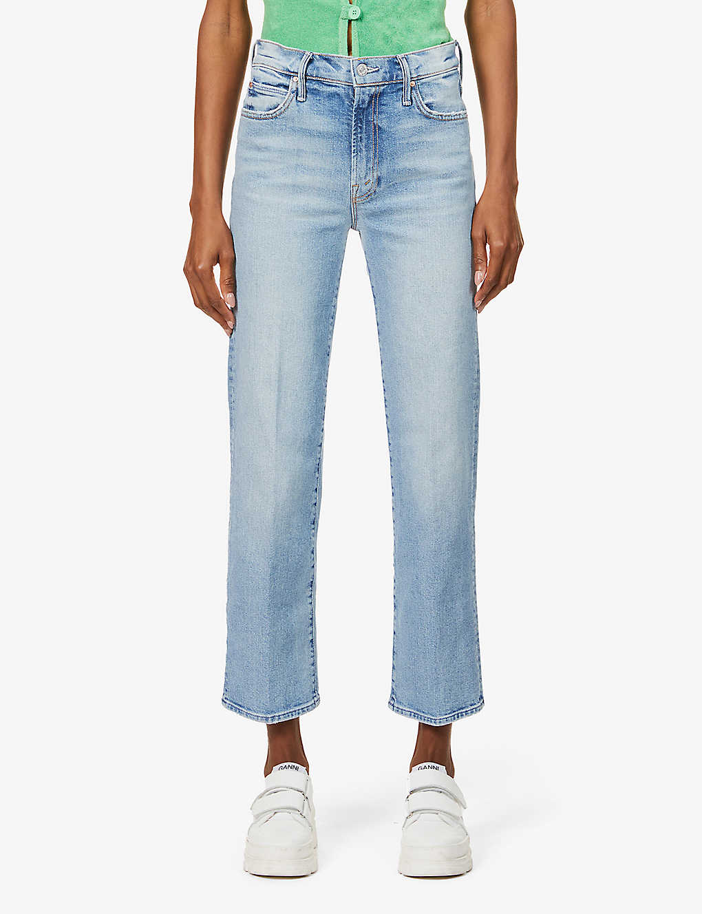 MOTHER: The Kick It straight-leg mid-rise stretch-denim jeans