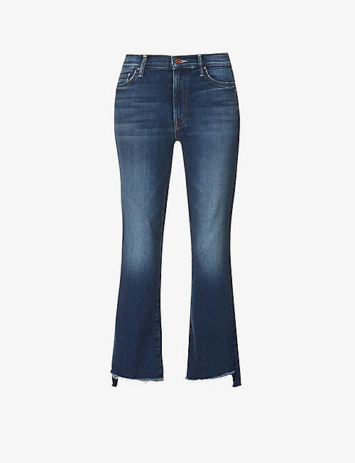 MOTHER: Insider Crop Fray mid-rise cotton-blend jeans