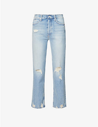 MOTHER: The Tomcat straight mid-rise jeans