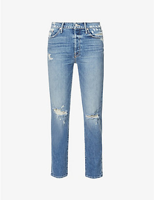 MOTHER: The Trickster Ankle straight mid-rise jeans