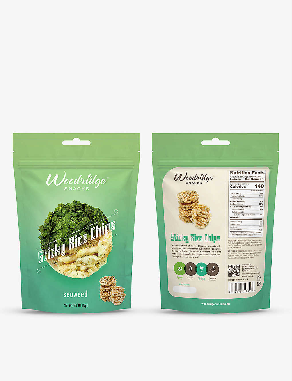 SEAWEED: Woodridge Snacks Seaweed Sticky Rice Chips 80g