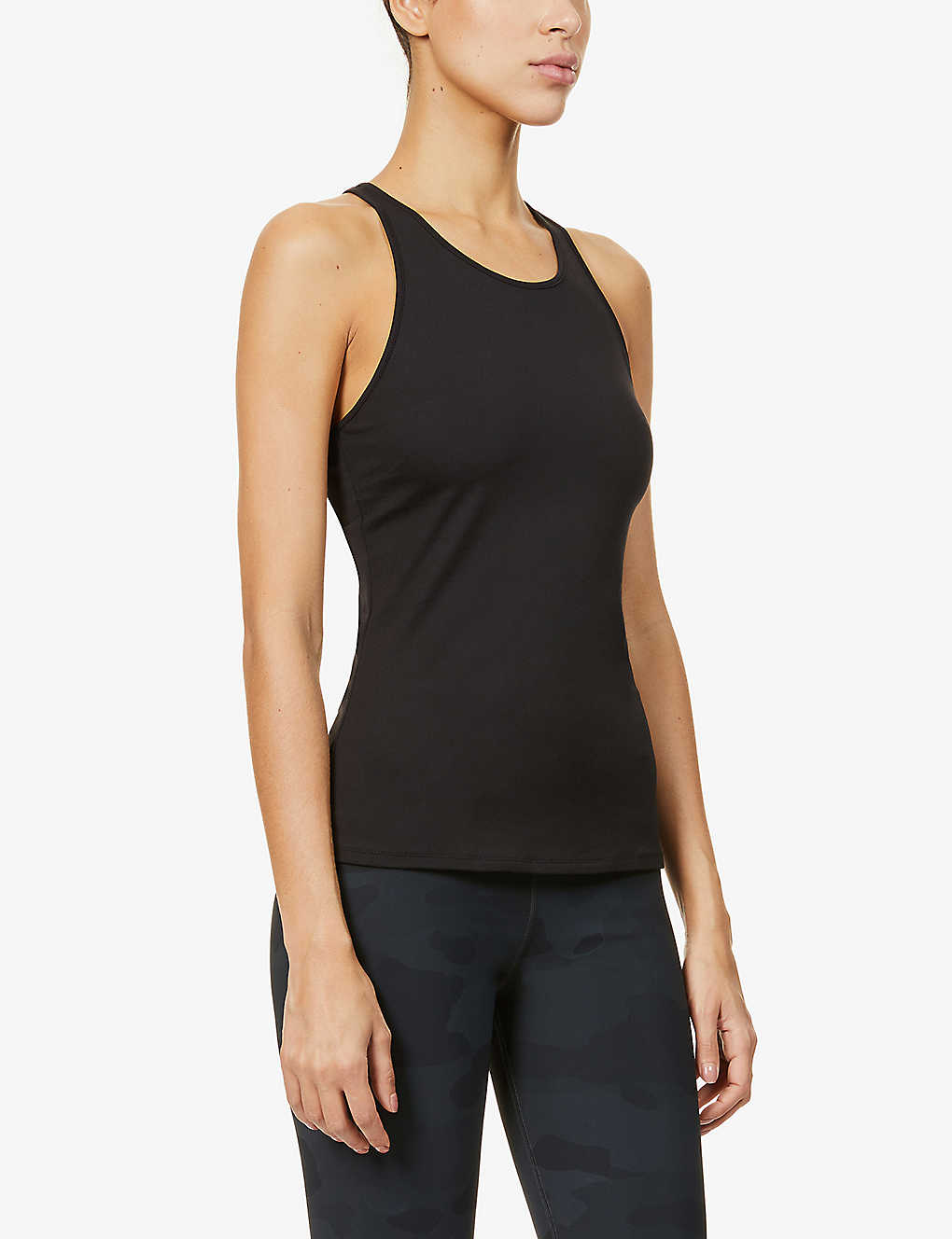 ALO YOGA: Select sleeveless stretch-jersey top