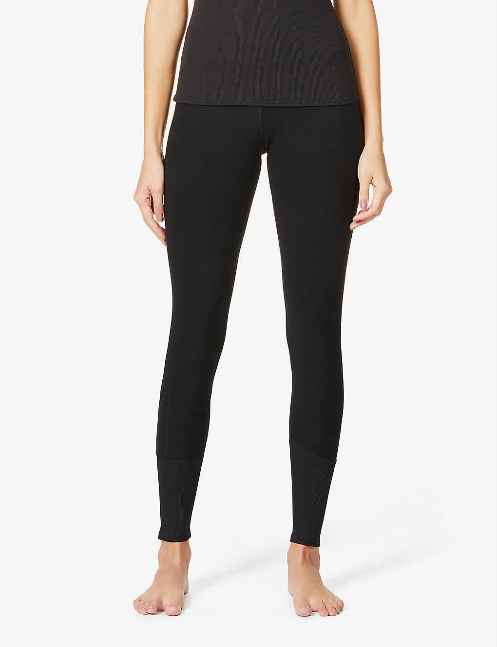 ALO YOGA: 7/8 Alosoft Lounge high-rise woven leggings