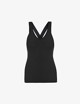 ALO YOGA: Elevate stretch-knitted top