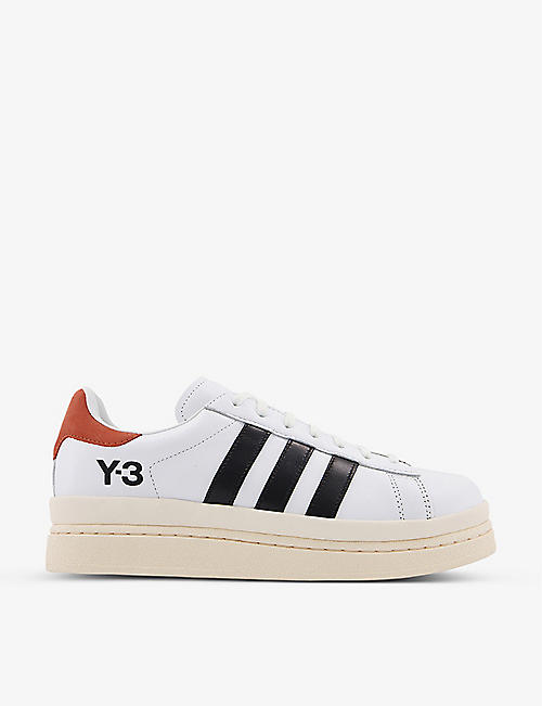 ADIDAS Y3: Hicho leather platform trainers