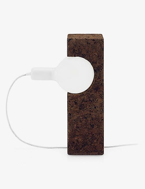 BLACK CORK: Boolean table lamp 38cm
