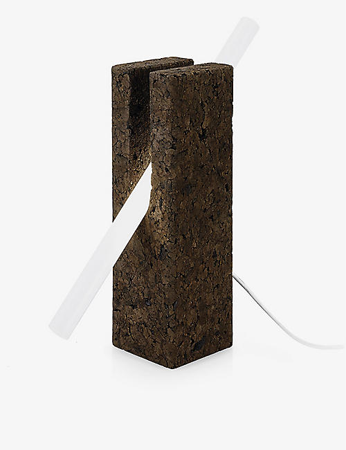 BLACK CORK: Boolean table tube lamp 38cm