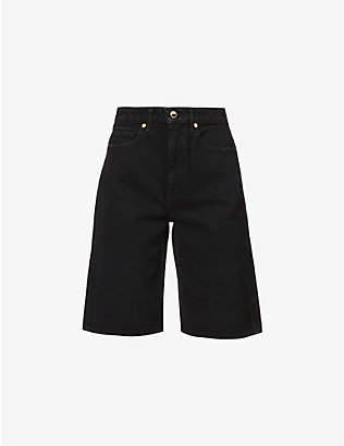 KHAITE: Mitch high-rise denim shorts