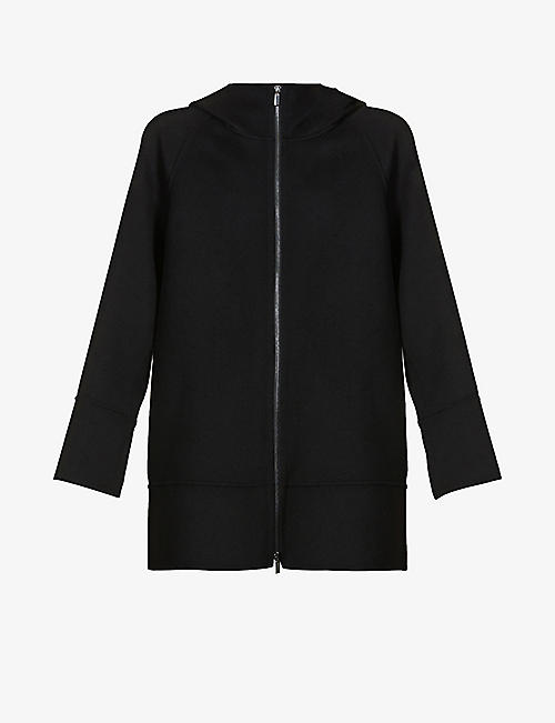 S MAX MARA: Mozart wool hooded coat