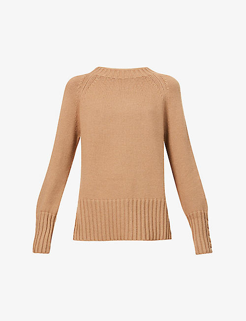 S MAX MARA: Lillies wool and cashmere-blend jumper