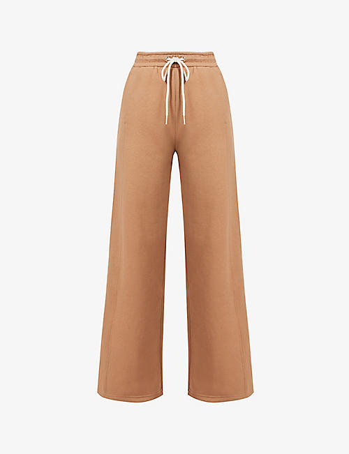 S MAX MARA: Aureo straight-leg high-rise cotton-jersey jogging bottoms