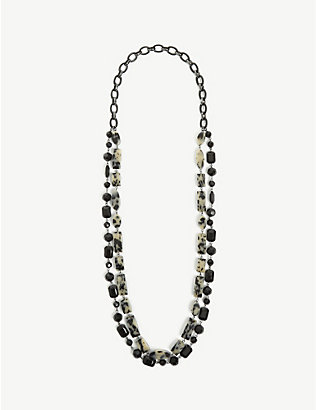 S MAX MARA: Ragione resin necklace