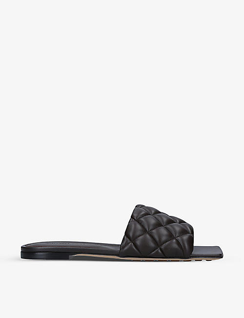 BOTTEGA VENETA: Quilted leather flat sandals