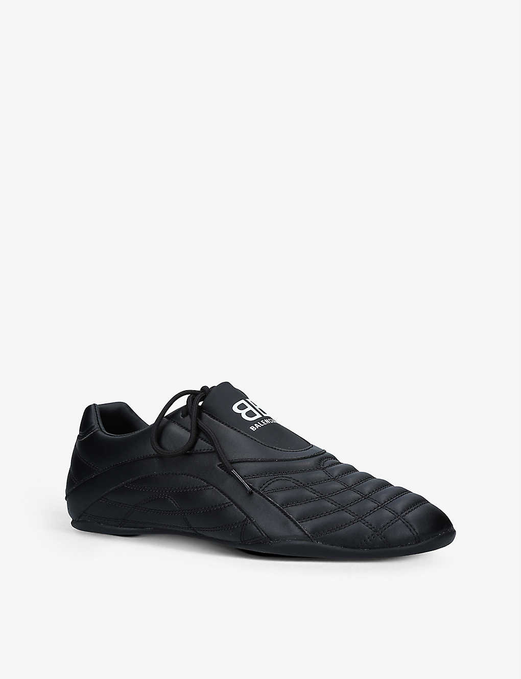 BALENCIAGA Leathers ZEN PANELLED FAUX-LEATHER SLIP-ON TRAINERS