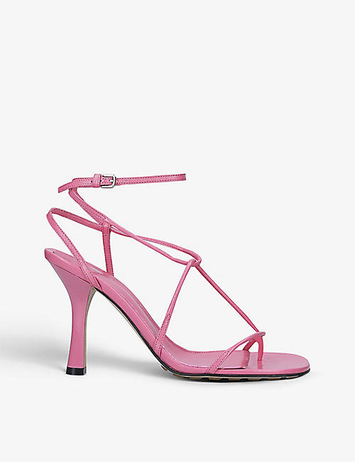 BOTTEGA VENETA: BV Line leather heeled sandals