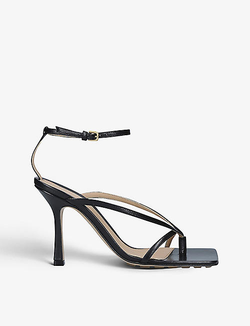 BOTTEGA VENETA: Stretch leather heeled sandals