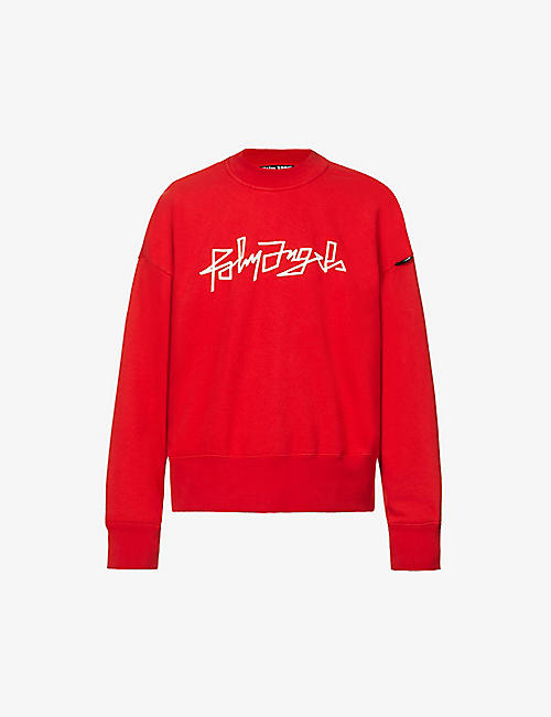 PALM ANGELS: Desert logo-print cotton-jersey jumper