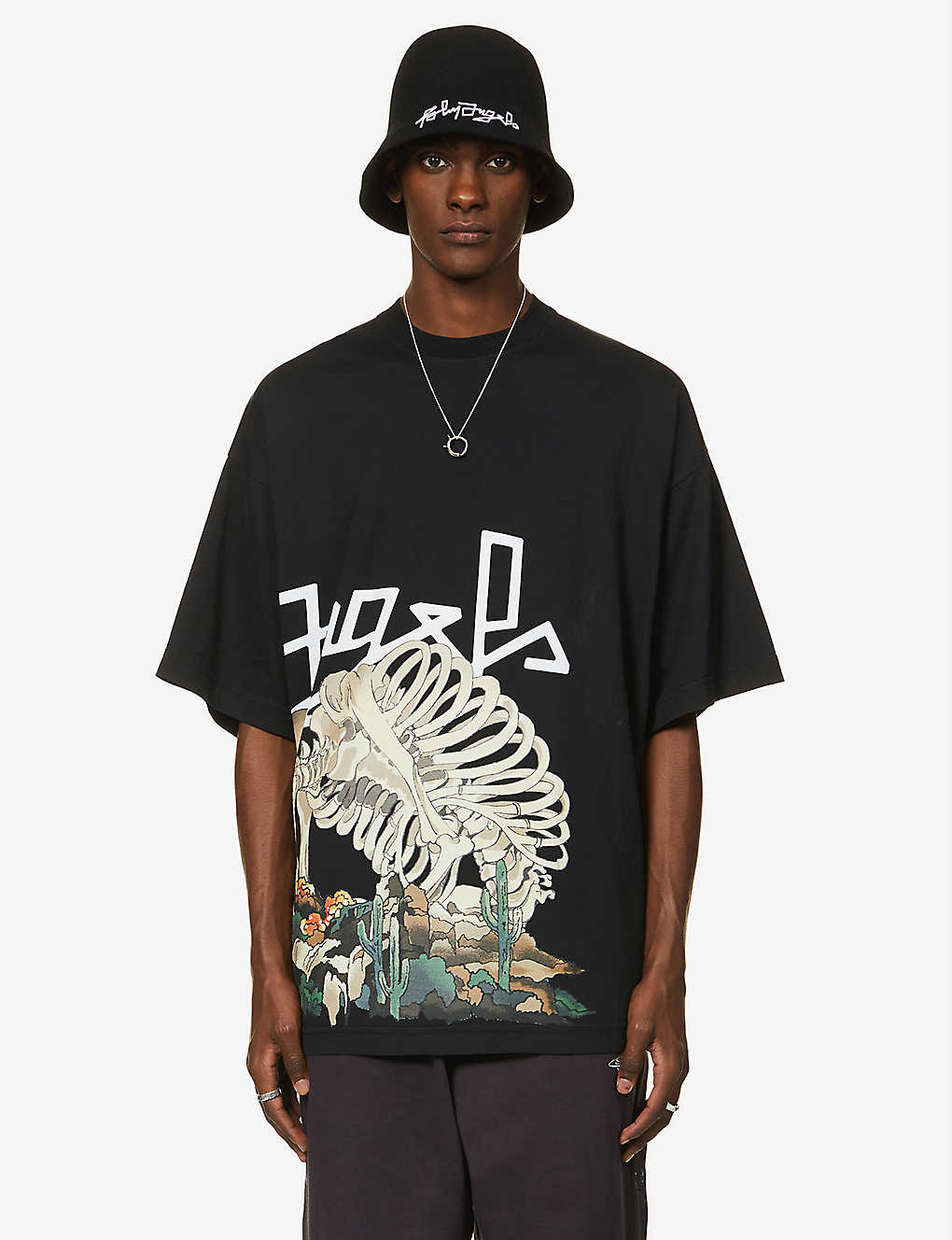 PALM ANGELS: Desert Skull graphic-print cotton-jersey T-shirt