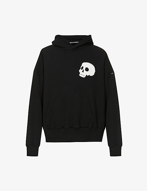 PALM ANGELS: Skull graphic-print cotton-jersey hoody