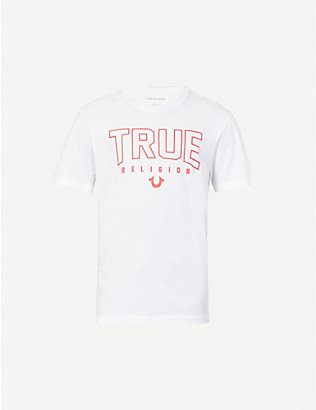 TRUE RELIGION: Logo-print cotton-jersey T-shirt