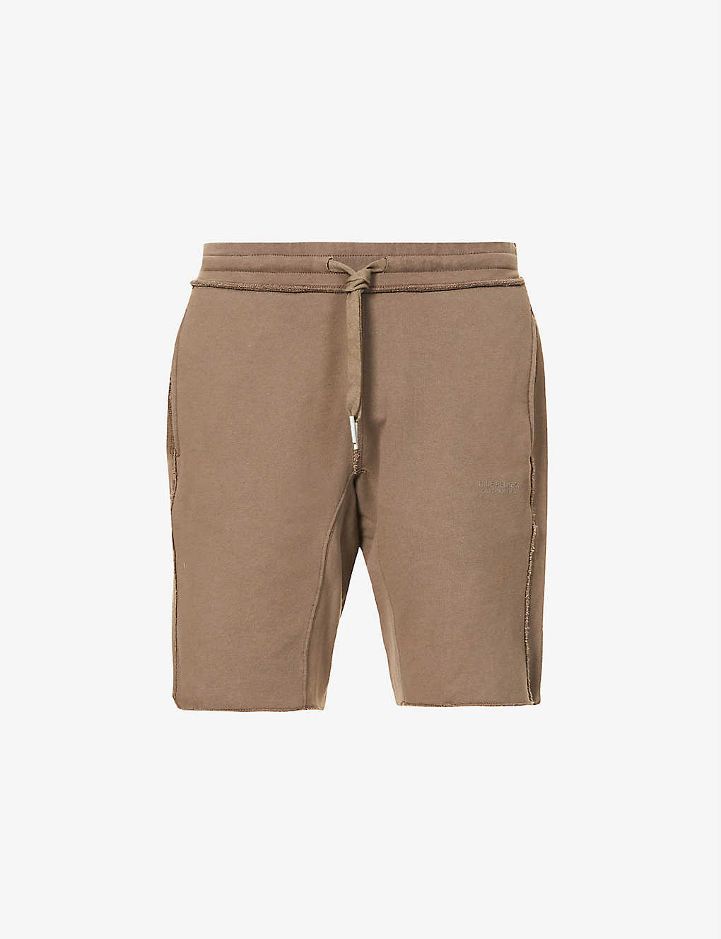 TRUE RELIGION: Raw-hem cotton-jersey shorts