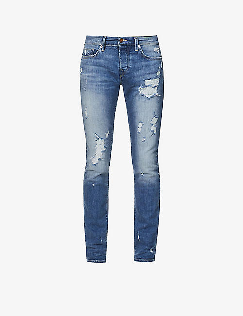 TRUE RELIGION: Rocco skinny stretch-denim jeans