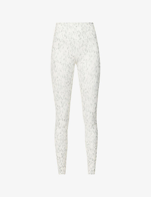VARLEY: Century abstract graphic-print stretch-woven leggings
