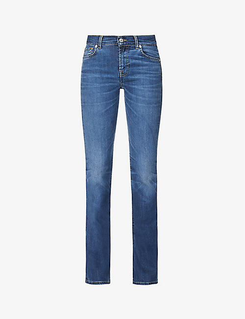 7 FOR ALL MANKIND: Bootcut Kind to the Planet flared high-rise jeans