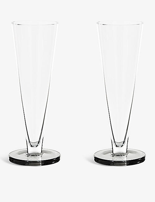 TOM DIXON: Puck flute glasses set of two